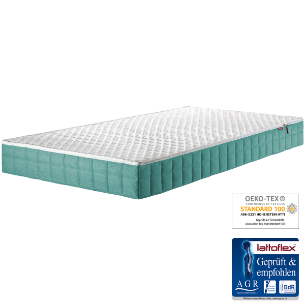 Lattoflex Kindermatratze LF3, Liegefläche weiß, 90x200, 100x200, AGR zertifiziert, Ökotex zertifiziert,
